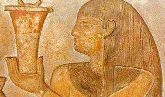 Vase à onguent d'Egypte